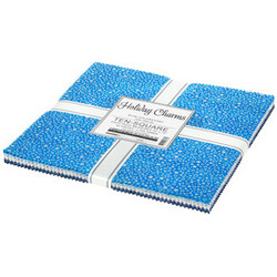 """Holiday Charms 10"""" Square Pack in 2021 Blue Colorstory"""