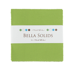 Bella Solids Charm Pack in Fresh Grass