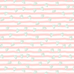 Sweetened Stripes in Meringue Pink
