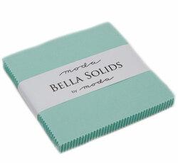 Bella Solids Charm Pack in Aqua