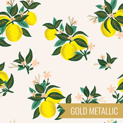Citrus Blossom in Lemon Metallic