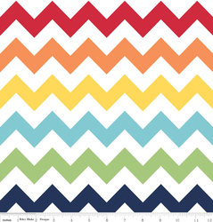 Medium Chevron in Rainbow