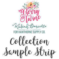 Berry and Twine Sample Strip