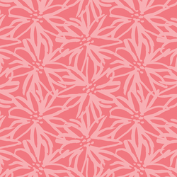 Painted Floral in Watermelon