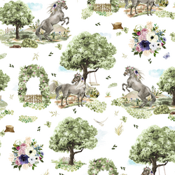Floral Horses in Royal