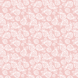 Little Tea Roses in Powder Pink