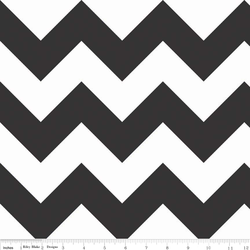 Large Chevron in Black
