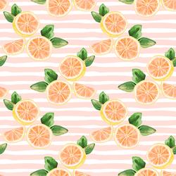 Citrus Slices in Pink Lemonade Stripe