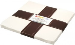 """Kona Solid 10"""" Square Pack in Snow"""