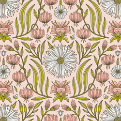 Garden Floral in Pink Blush