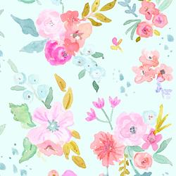 Large May Flowers in Aqua Sky