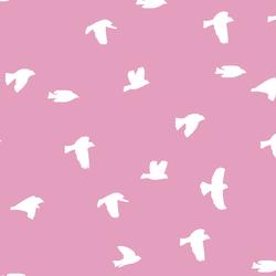 Flock Silhouette in Begonia