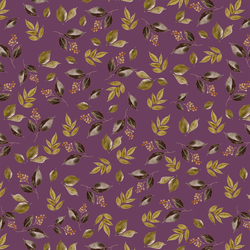 Falling Leaves in Plum