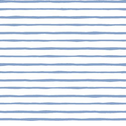 Artisan Stripe in Cornflower on White