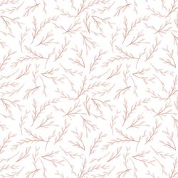 Ornamental in Rose Quartz on White
