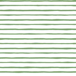 Artisan Stripe in Pistachio on White