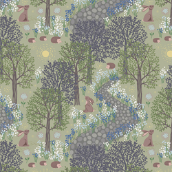 Bluebell Wood in Sage