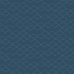 Sashiko Stitches in Dark Blue