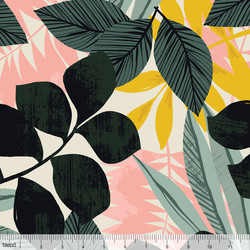 Tropical Fronds in Ivory