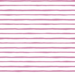 Artisan Stripe in Wisteria on White