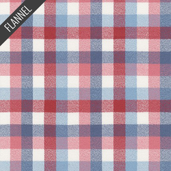 Mammoth Organic Colorful Check Flannel in Americana