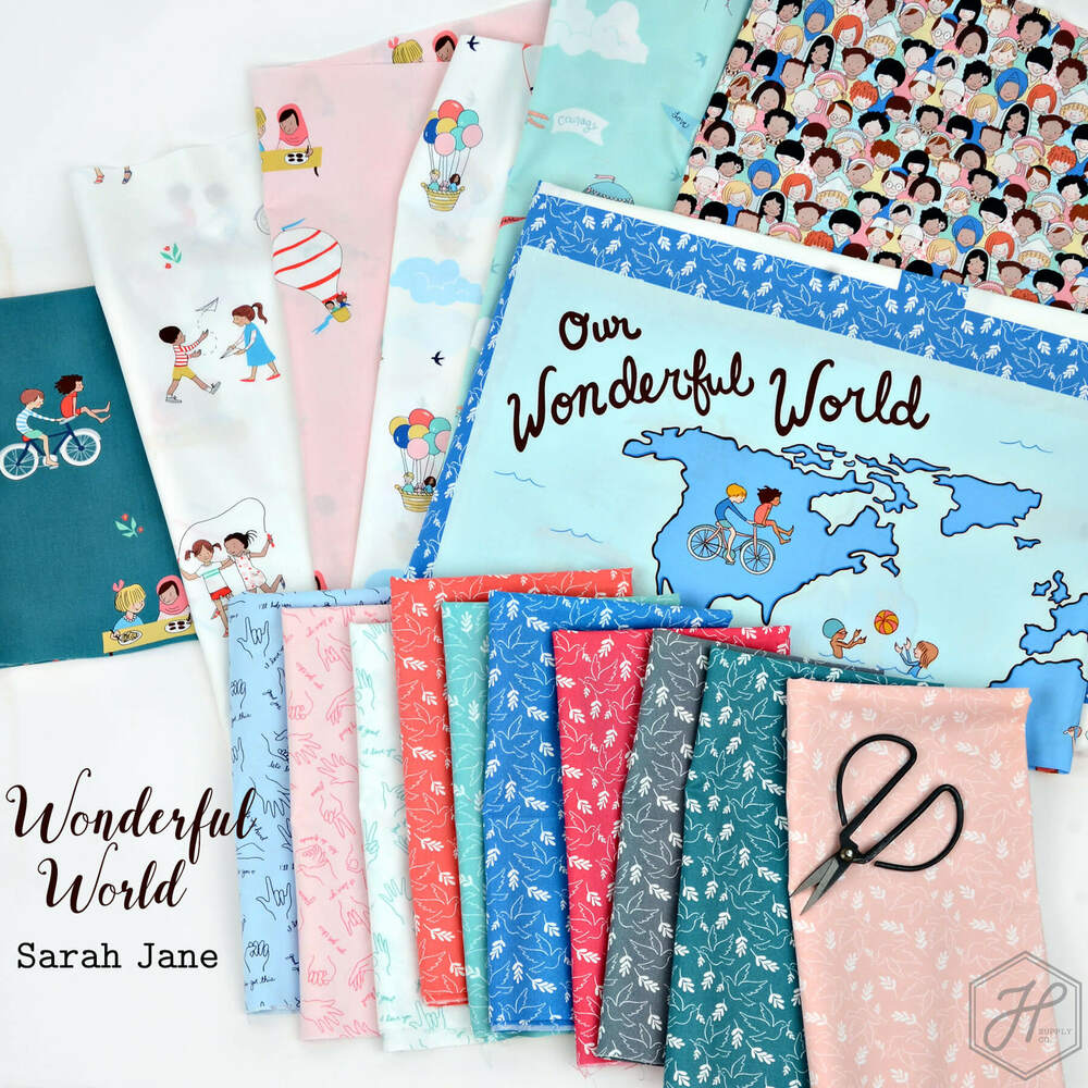 Helping Hands in Blossom Sold by the Half Yard Wonderful world by Sarah Jane