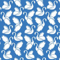 Swan Silhouette in Cerulean