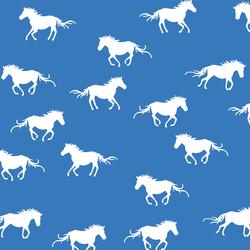Horse Silhouette in Cerulean