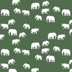 Elephant Silhouette in Kale