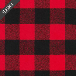 Mammoth Large Two Check Plaid Flannel in Red
