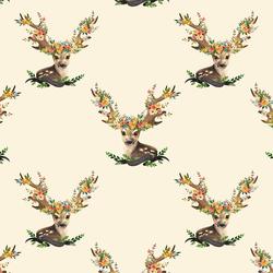 Large Meadow Deer in Ivory