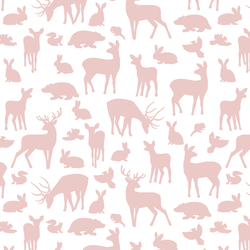 Forest Friends in Blush on white