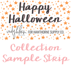 Happy Halloween Sample Strip