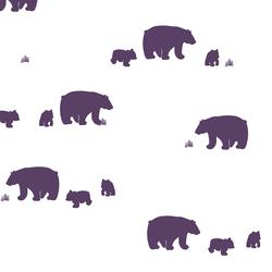 Bear Silhouette in Aubergine