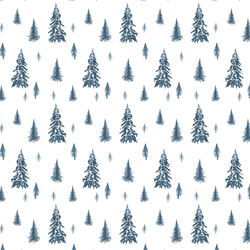Snowy Pines in Twilight