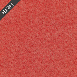 Melton Flannel in Red