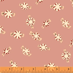 Peppermints Flannel in Pink