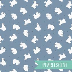 Polar Bears in Light Denim Pearl