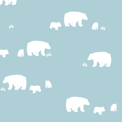 Wandering Bears in Powder Blue