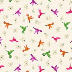 Hummingbird in Cream