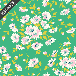 Dream Floral Backing in Bright Green