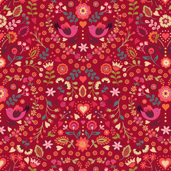 Little Bird Floral in Red