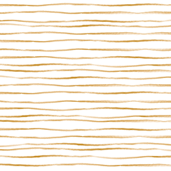 Sussex Stripe in Gold on White