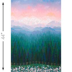 Mountainscape Single Border in Sunset