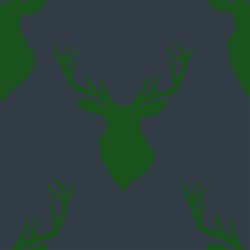 Deer Silhouette in Wintergreen on Inkwell