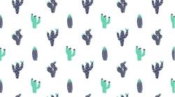 Cacti in White