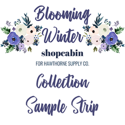 Blooming Winter Sample Strip