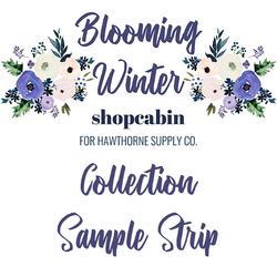 Blooming Winter Sample Strip