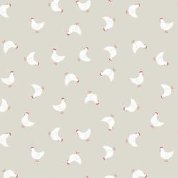 Little Hens in Dark Cream