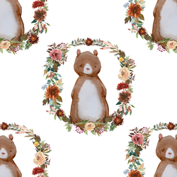 Woodland Bear in White